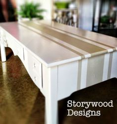 DIY French Country Decor: French Grainsack Inspired Coffee Table by Storywood Designs