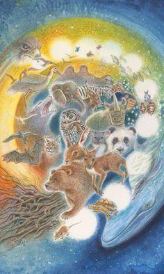 Animals Divine Tarot: Gallery: Major Arcana: The Wheel