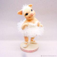 игрушка из шерсти Свинка-Балеринка – купить в интернет-магазине на Ярмарке Мастеров с доставкой - F6X9TRU