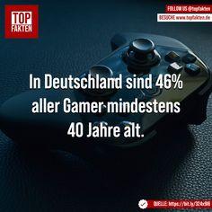 In Deutschland sind 46% aller Gamer mindestens 40 Jahre alt. - #deutschland #gaming #gamer #zocken #spiele #spielen #games #playstation #xbox #nintendo #pc #computer #fakten Playstation, Xbox, Computer, Nintendo, Gaming, Photo And Video, Digital, Movie Posters, Instagram
