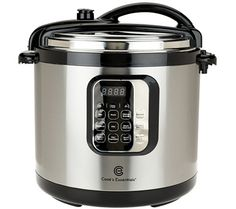 Crowd-please with ease. This 10-qt pressure cooker from Cook's Essentials takes the heat off of cooking for a crowd. Easy-to-use enhancements like preset food functions and programmable cooking times make pressure cooking more deliciously doable than ever. From Cook's Essentials(R) Kitchenware. QVC.com