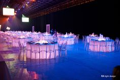 Table lights For a corporate events at stazione Leopolda in Florence  www.ralightdesign.com