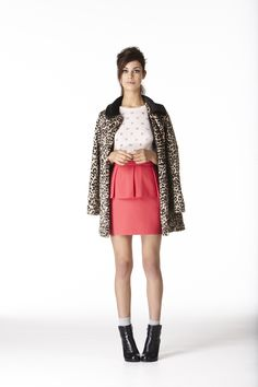 Key trend at Oasis for Autumn Winter 2012: Brighton Rock: a modern take on mod styling, twist and shout in retro prints including classic dogtooth and luxorious leopard print in this style journey from Audrey to Alexa.