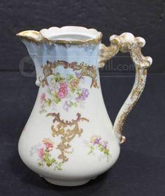 Antique B. & H. Limoges France Porcelain Pot, missing it's Lid