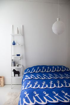 anchor 'seablanket' for a modern nautical-themed room