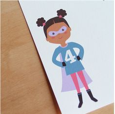 Custom superhero invitations that look like your kids - for girls too, yay!