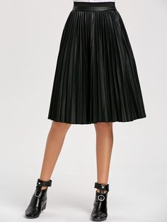 SHARE & Get it FREE   High Waist Faux Leather Pleated SkirtFor Fashion Lovers only:80,000+ Items • New Arrivals Daily • Affordable Casual to Chic for Every Occasion Join Sammydress: Get YOUR $50 NOW!