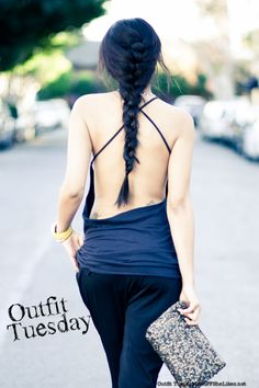 Backless shirt. I need a figure out a way to do this with an old tshirt that would actually turn out well.