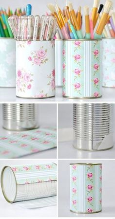 8 Bedroom Organization Hacks That'll Make You Look Like a Genius – DIY Projects Small Apartment Organization, Organization Hacks, Organizing Ideas, Bedroom Organization, Bedroom Storage, School Desk Organization, Stationary Organization, Tin Can Crafts, Diy And Crafts