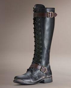 Women's Jenna Cap Toe Lace Up Boot - Black