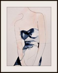 Feb 2020 - Figure 4 - Fashion Illustration Art Print, Mixed Media Painting by Leigh Viner Watercolor Fashion, Pen And Watercolor, Painting Prints, Fine Art Prints, Affordable Wall Art, Fashion Photography Poses, Face Sketch, Sketchbook Inspiration, Indie Fashion
