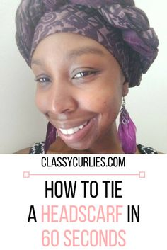 How to tie a headsca