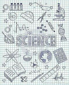 Drawings for science Lettering Brush, Hand Lettering, Notebook Covers, Binder Covers, Studyblr, Tattoo Painting, Science Doodles, Diy Back To School, School Notebooks
