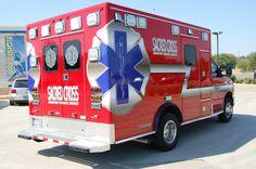 A Sacred Cross ambulance based in Denton.  A private transfer ambulance company.
