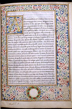 Manuscript from Morals on the Book of Job, at The Walters Art Gallery…