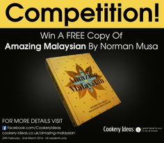 We are super excited to be offering you a chance towin a copy ofAmazing Malaysian by Norman Musa. It's a fantastic cookbook full of great recipes you can make at home.