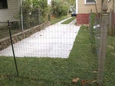 Unchain Your Dog.org | Buid Mesh, Chicken Wire Fence for Dogs with Wood and Metal Posts