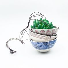 Ready to ship hanging planters in the shop today! Perfect springtime gift for yourself or someone special.