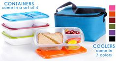 We LOVE these Easy Lunchboxes!  Super sturdy - you can run them through the dishwasher over and over and they never wear out.  No yucky chemicals either.  A fabulous value for the money.  Highly recommended!