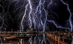 Oliver Kay captured these spectacular lightning shots during an intense storm above his ho...