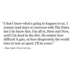 I do know this. [Beau Taplin]