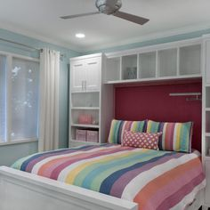 Built In Storage Unit Around Bed Design, Pictures, Remodel, Decor and Ideas