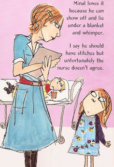 Clarice Bean: Guess Who's Babysitting? by Lauren Child - I like how she uses mixed media in her illustrations