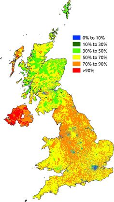 Christianity by Percentage in the United Kingdom (2011)