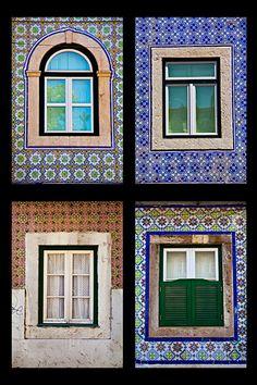 Colorful Windows in Lisbon Portugal.  Fine Art. Home Decor.Travel Photography…