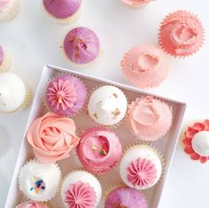 cupcakes with luscious colored frosting