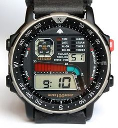 VINTAGE-MENS-NEW-OLD-STOCK-W-BOX-CITIZEN-DIGITAL-LCD-D060-085491-WIND-SURFING
