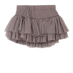 3 Pommes Tulle Polka Dot Gray Layered Skirt