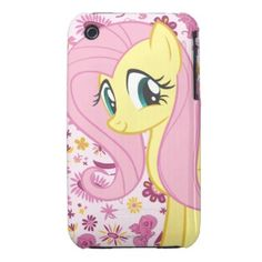 My Little Pony Friendship is Magic: Fluttershy with Birds and Bees iPhone 3 Case-Mate Case featured on NekoCreations.Com