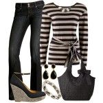 Casual Outfits | Stone Stripes with Black