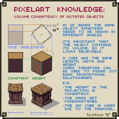 Volume Consistency of Rotated Objects by Cyangmou on DeviantArt How To Pixel Art, Cool Pixel Art, Pixel Circle, Pixel Animation, Isometric Art, Pixel Art Games, Pixel Design, Learn Art, Drawing Tips