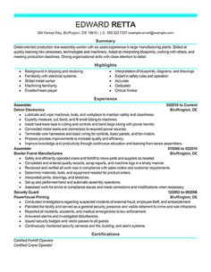 Intern Resume Example | Resume examples, Colleges and Resume