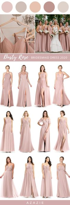 2020 Trend Wedding Color: Dusty Rose Bridesmaid Dresses 2020 Trend Wedding Color: Dusty Rose Bridesmaid Dresses Dusty rose is a stylish color that embodies grace and beauty. A classic color by its own right, many brides are making it a popular comeback Dusty Rose Bridesmaid Dresses, Dusty Rose Dress, Dusty Rose Wedding, Bridesmaid Dress Colors, Winter Bridesmaid Dresses, Winter Wedding Colors, Summer Wedding, Dusty Blue, Staubige Rose