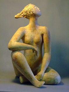 ☥ Figurative Ceramic Sculpture ☥ Ingrid Dusselberg   I am Woman