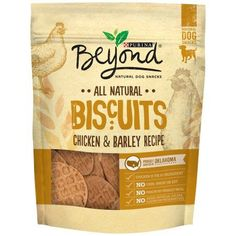 Purina Beyond All Natural Biscuits Chicken & Barley Recipe Dog Snack 9 oz. Pouch