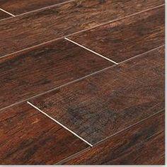 Ceramic tile that looks like wood planks. LOVE IT!