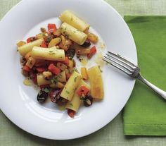 Rigatoni Peperonata | Eating an exclusively plant-based diet can be incredibly satisfying and tasty—especially with these hearty recipes.