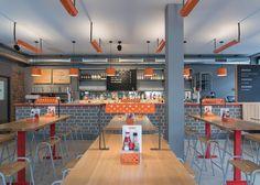 London studio Brinkworth has stripped back a London pub to create chicken restaurant.