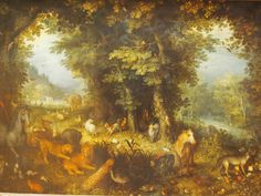 Jan Bruegel's Biblical allegory with its aesthetics of plenitude is  equally impossible without the work of Pieter Bruegel and particularly Jheronimus Bosch, with his negative version of the same theology.