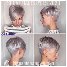 2020 New Year Pixie Haircut Fashion Twist Hairstyles, Pixie Hairstyles, Pixie Haircut, Pretty Hairstyles, Short Grey Hair, Short Hair Cuts For Women, Pixie Cut, Natural Hair Styles, Short Hair Styles