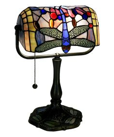 Look at this #zulilyfind! Indoor Dragonfly Banker Desk Lamp by Warehouse of Tiffany #zulilyfinds