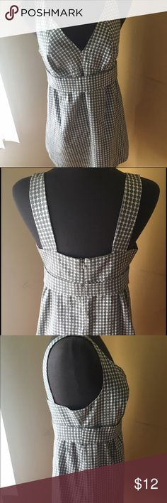 "The Limited Gray and White Polka Dot Dress Sz M The Limited Gray and White Polka Dot Dress Sz Medium Length: 31"".                                                          Look at all the pictures, it has a red line on the tag, but otherwise it's in excellent condition.   All my items come from a smoke free and pet free environment The Limited Dresses"