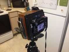 Photographer Bryce Hoeper wanted to shoot digital photos using his Speed Graphic 4x5 camera, so he figured out a way to use his Fujifilm X-Pro1 mirrorless camera as a digital back. Sample photos here: http://www.petapixel.com/2013/01/02/speed-graphic-4x5-converted-into-a-fuji-x-mirrorless-camera/