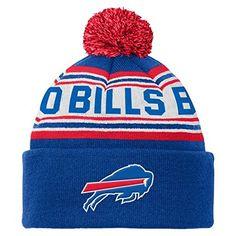 077a30e248d NFL Buffalo Bills Youth 8-20 Cuffed Knit Pom Hat