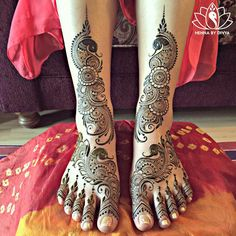 Megha's bridal henna from Friday night!   Thank you for giving me creative freedom  Wishing you & Dharmik a very happy married life ❤️ @megha0211
