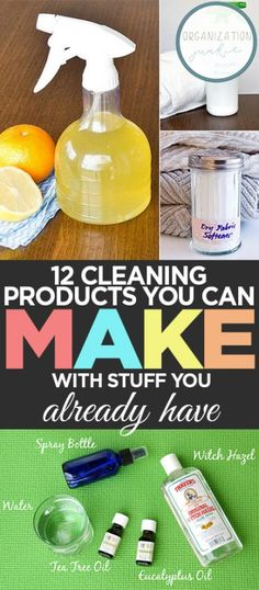 12 Cleaning Products You Can Make With Stuff You Already Have